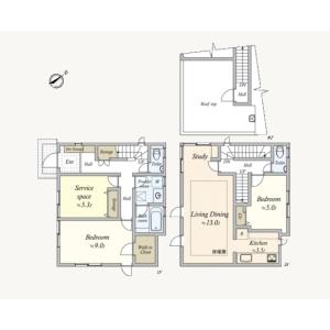 2SLDK {building type} in Kugayama - Suginami-ku Floorplan