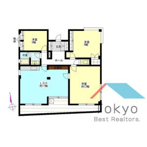 3LDK Mansion in Nakano - Nakano-ku Floorplan