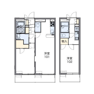 1K Mansion in Motocho - Saitama-shi Urawa-ku Floorplan