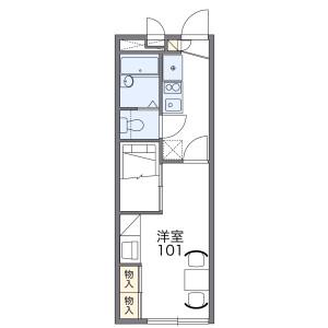 1K Apartment in Shimoozuki - Hadano-shi Floorplan