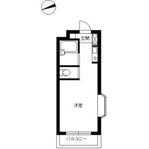 1R Mansion in Kizawa - Toda-shi Floorplan