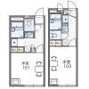 在所沢市內租賃1K 公寓 的房產 房間格局