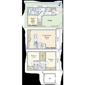 2SLDK House in Yoyogi - Shibuya-ku Floorplan