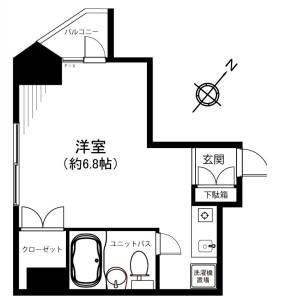 1R {building type} in Ogikubo - Suginami-ku Floorplan