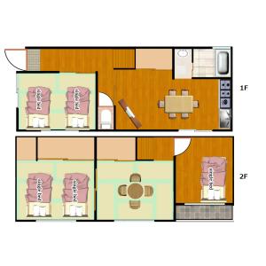 4LDK House in Bainan - Osaka-shi Nishinari-ku Floorplan