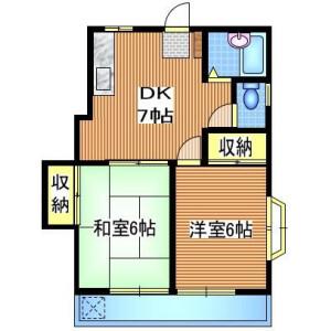 2DK Mansion in Musashidai - Fuchu-shi Floorplan