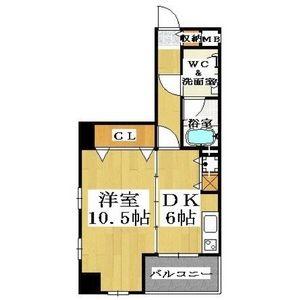 1DK Mansion in Shimanochi - Osaka-shi Chuo-ku Floorplan