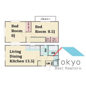 2LDK House in Kitashinjuku - Shinjuku-ku Floorplan