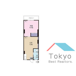 1LDK Mansion in Koenjiminami - Suginami-ku Floorplan