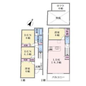 2SLDK {building type} in Futaba - Shinagawa-ku Floorplan