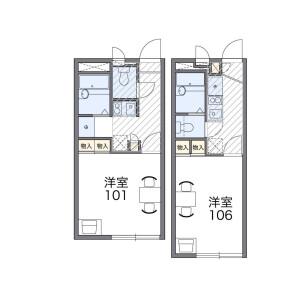 1K Apartment in Inage - Chiba-shi Inage-ku Floorplan
