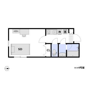 1K Mansion in Omorinishi - Ota-ku Floorplan