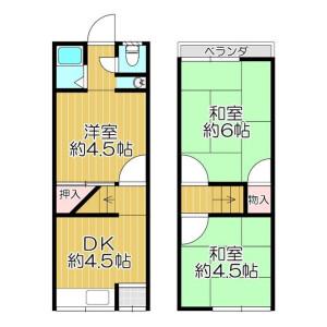 3DK {building type} in Murano hommachi - Hirakata-shi Floorplan