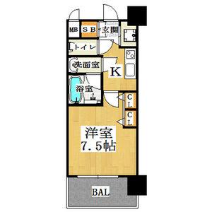 1K Mansion in Kikawahigashi - Osaka-shi Yodogawa-ku Floorplan
