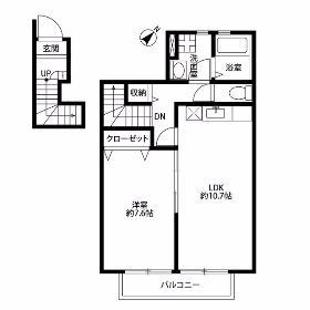 1LDK Mansion in Kitakasai - Edogawa-ku Floorplan