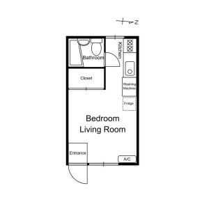 1R Apartment in Chuo - Nakano-ku Floorplan