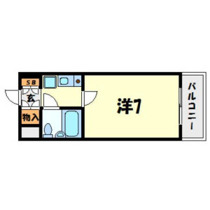 1K Mansion in Mukogawacho - Amagasaki-shi Floorplan
