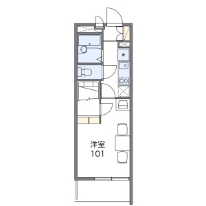 1K Mansion in Takamichicho - Nagoya-shi Nakamura-ku Floorplan