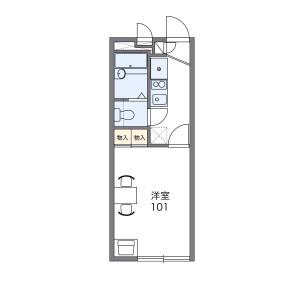 1K Apartment in Asahi - Kofu-shi Floorplan