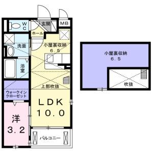 1LDK Apartment in Meishincho - Takatsuki-shi Floorplan