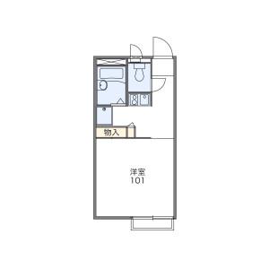1K Apartment in Sugu kita - Kasuga-shi Floorplan