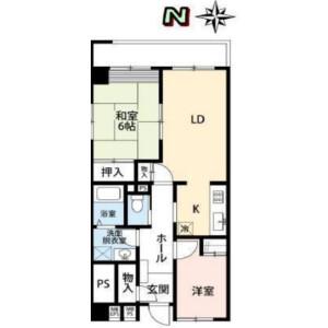 2LDK Mansion in Shibaura(2-4-chome) - Minato-ku Floorplan