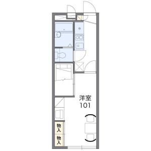 1K Apartment in Umegaoka - Nagoya-shi Tempaku-ku Floorplan