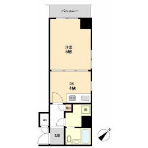 1DK 맨션 in Sueyoshicho - Yokohama-shi Naka-ku Floorplan