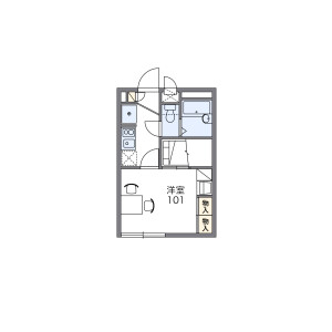 1K Apartment in Higashiobase - Osaka-shi Higashinari-ku Floorplan