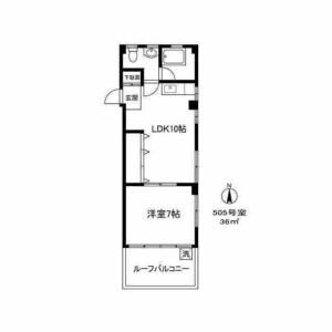 目黒區鷹番-1LDK公寓大廈 房間格局