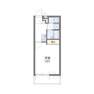 1K Mansion in Tatebayashimachi - Kitakyushu-shi Kokurakita-ku Floorplan