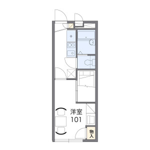 1K Apartment in Uriwari - Osaka-shi Hirano-ku Floorplan