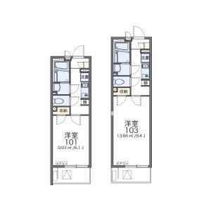 1K Mansion in Chuo - Warabi-shi Floorplan