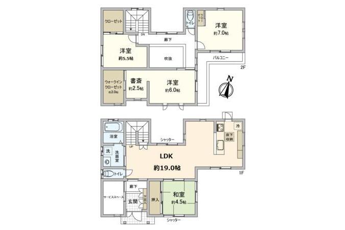在泉佐野市购买4SLDK 独栋住宅的 内部