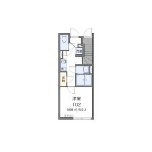 1K Apartment in Akabanenishi - Kita-ku Floorplan