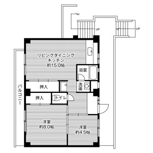 2LDK Mansion in Shimogoicho - Toyohashi-shi Floorplan