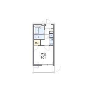 1K Mansion in Tsukaguchicho - Amagasaki-shi Floorplan
