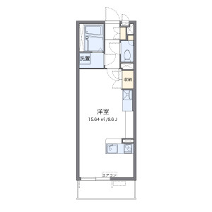 1R Mansion in Higashimatsuyama-shi Floorplan