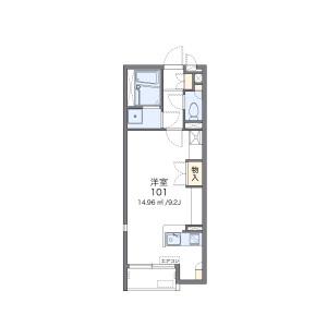 1R Apartment in Honancho nishi - Toyonaka-shi Floorplan