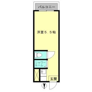 新宿区 歌舞伎町 1R マンション 間取り