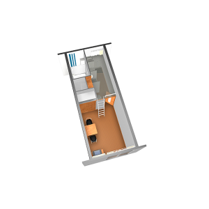 1K Apartment in Kamikamida - Neyagawa-shi Floorplan