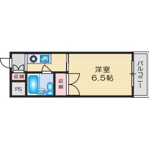 1K Mansion in Toyokawa - Ibaraki-shi Floorplan