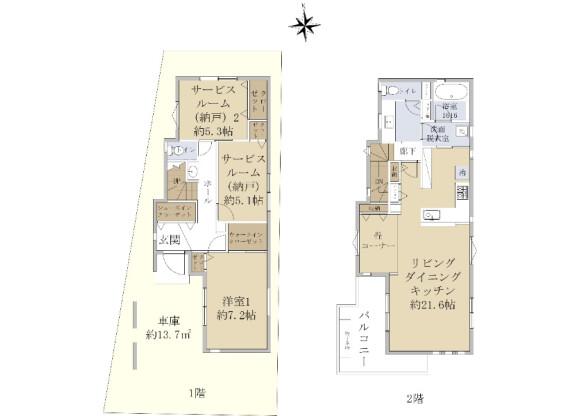 1LDK House to Buy in Nerima-ku Floorplan