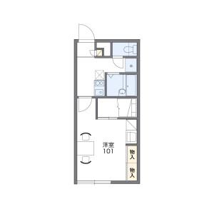 1K Apartment in Kitago 2-jo - Sapporo-shi Shiroishi-ku Floorplan