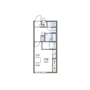 1K Apartment in Ichikokawaracho - Higashiomi-shi Floorplan
