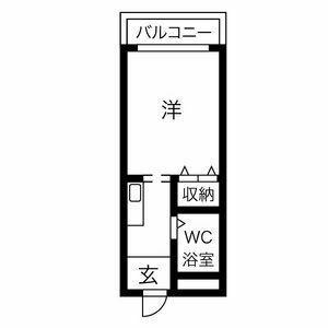 大阪市住吉区 苅田 1K アパート 間取り