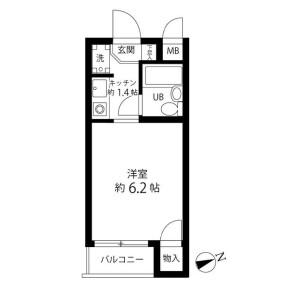 1R Mansion in Ebara - Shinagawa-ku Floorplan