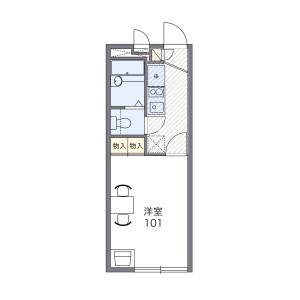 1K 아파트 in Oizumigakuencho - Nerima-ku Floorplan