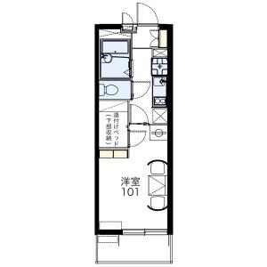1K Mansion in Amanumacho - Saitama-shi Omiya-ku Floorplan