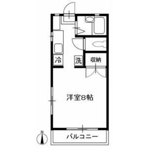 國分寺市西恋ケ窪-1K公寓 房間格局
